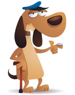 old-dog-pointing-finger
